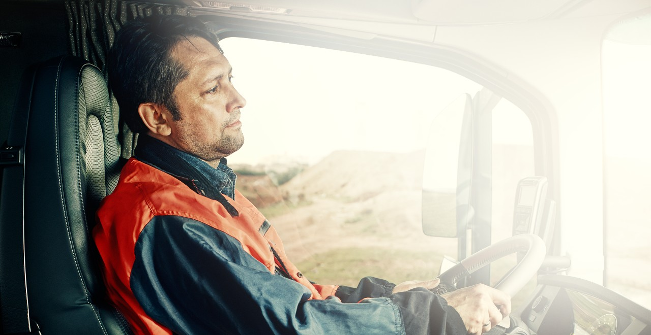 Volvo trucks training efficient man driving